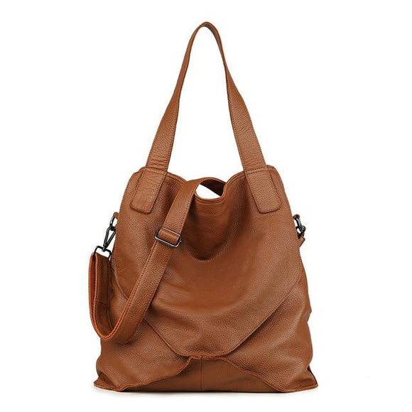 Versatile Genuine Leather Hobo Shoulderbag | Handbag