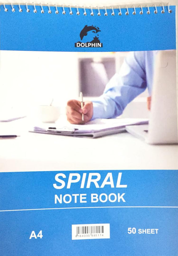 A4 Top Spiral Notebook | DOLPHIN - Shop Online in Tanzania | Empire Greeting Cards Ltd