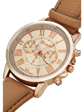 Load image into Gallery viewer, Geneva Women's Quartz Analog  Leather Banded Wrist Watch