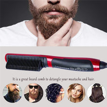 Load image into Gallery viewer, Electric Ionic Beard Straightener Comb