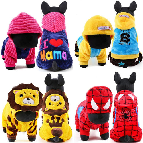 Hooded Winter Pet Clothes and Jackets