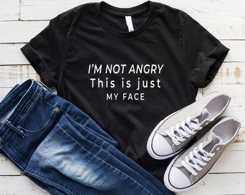 Womens Graphic TShirt - I am not angry