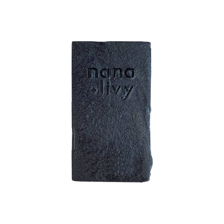 Nana + Livy charcoal shampoo bar without packaging