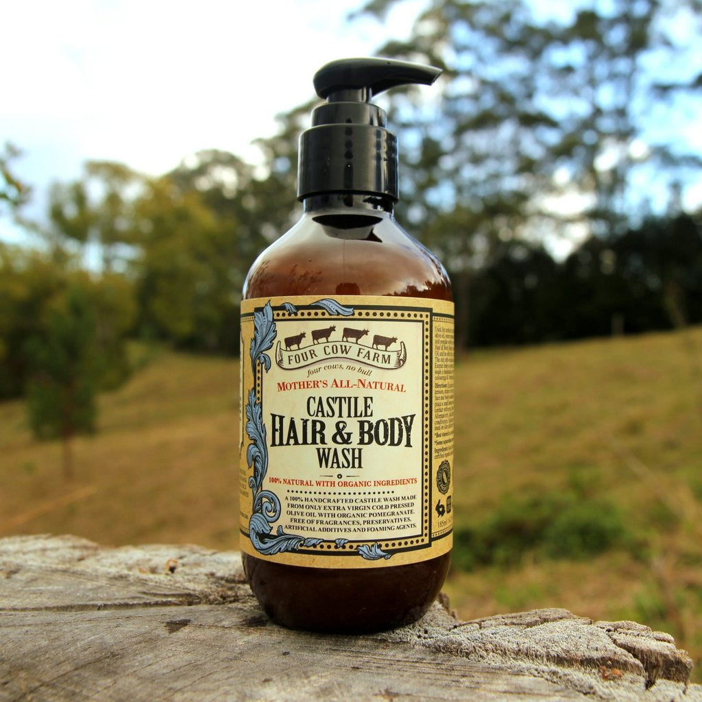 Mother's All-Natural Castile Hair & Body Wash 185ml / 6.25 fl.oz