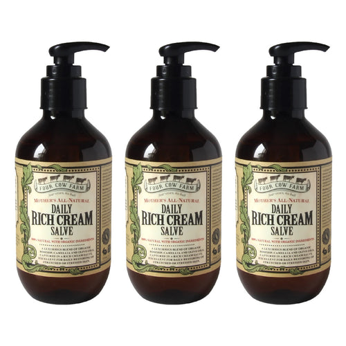 Mother's All-Natural Daily Rich Cream Salve 185ml / 6.25 fl.oz - 3 packs