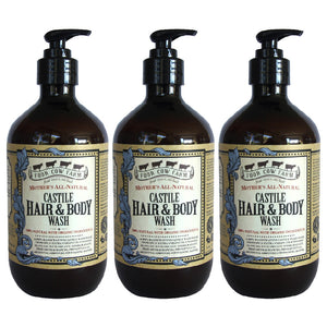 Mother's All-Natural Castile Hair & Body Wash 485ml / 16.39 fl.oz - 3 Packs