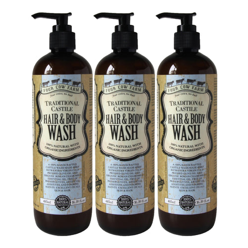 Traditional Castile Hair & Body Wash 485ml / 16.39 fl.oz - 3 Packs