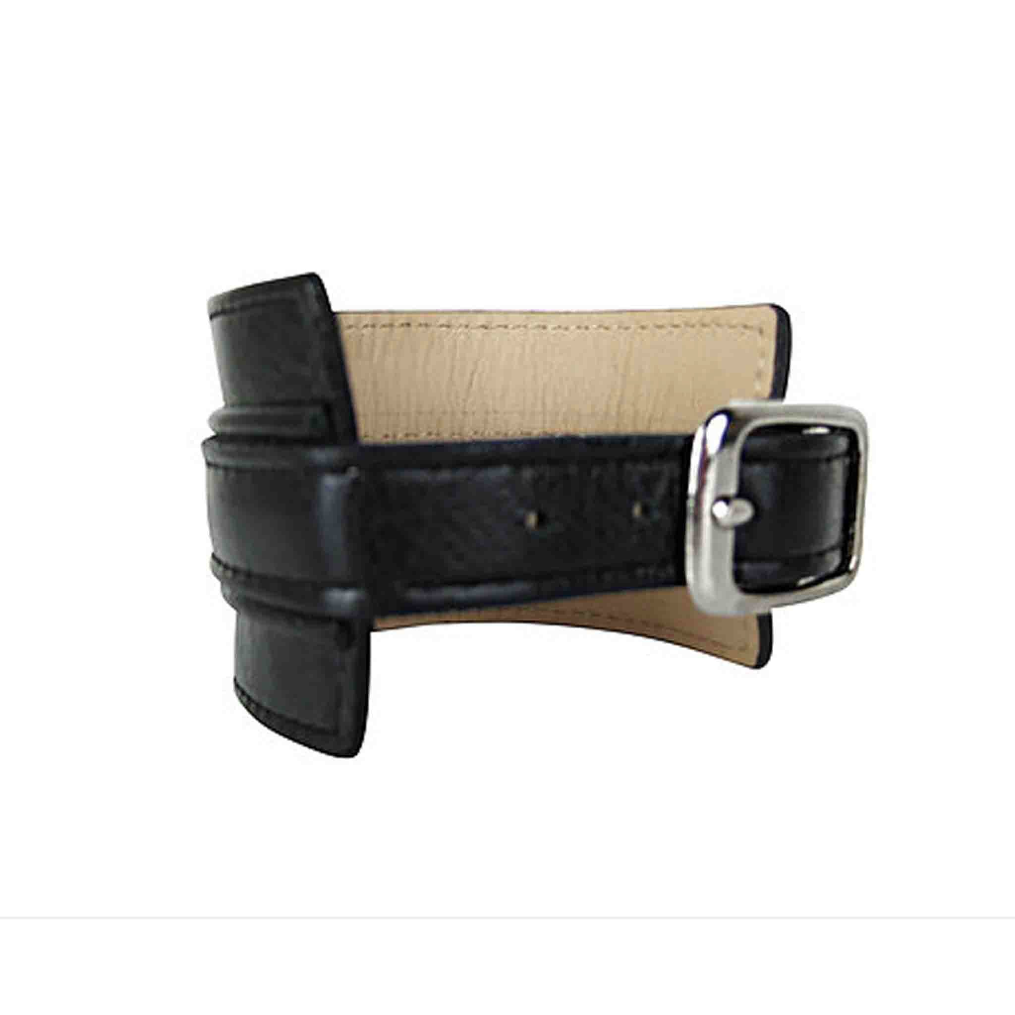 BLACK LEATHER CUFF MEN'S HANDGELENK