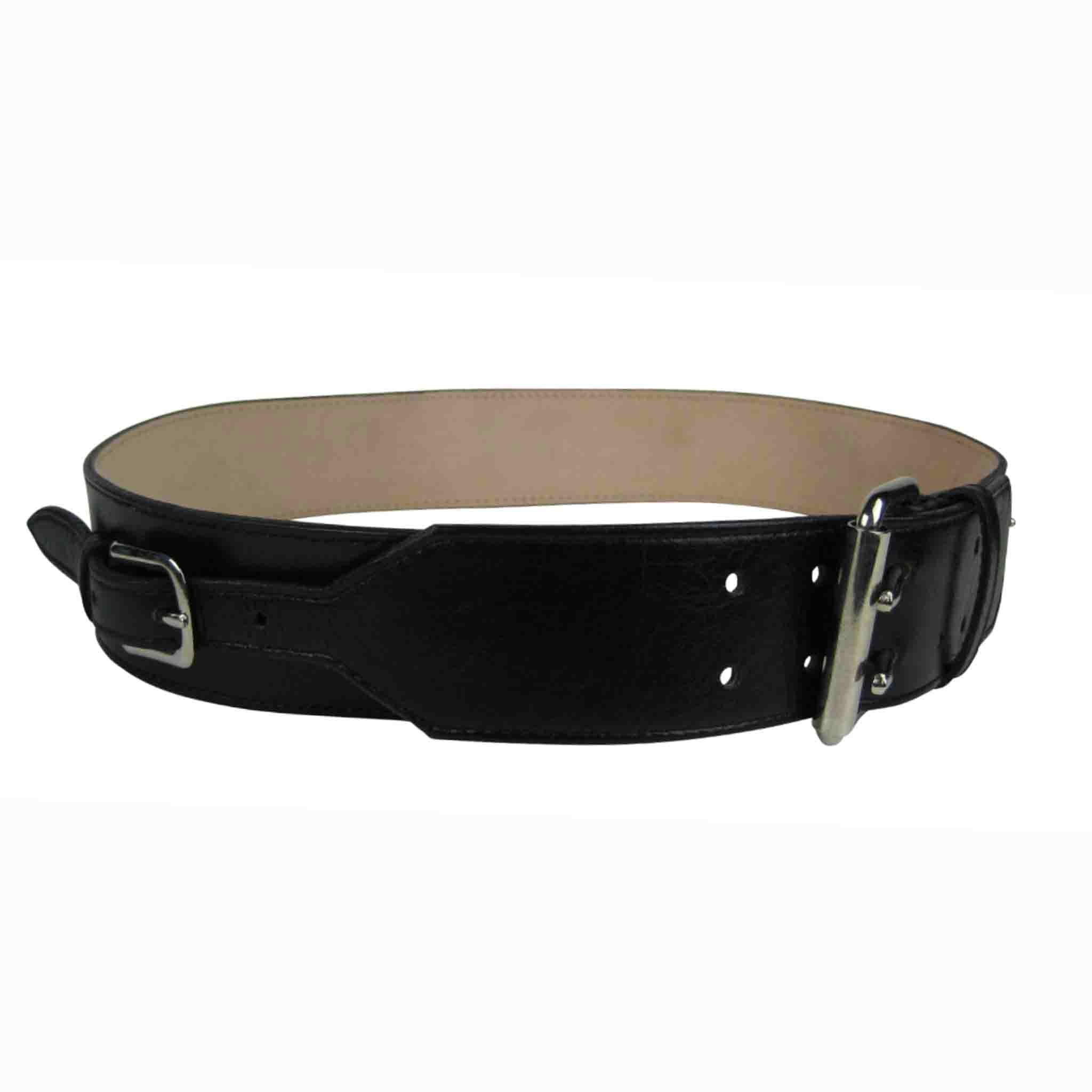 BLACK LEATHER BELT MEN'S BEWERBER