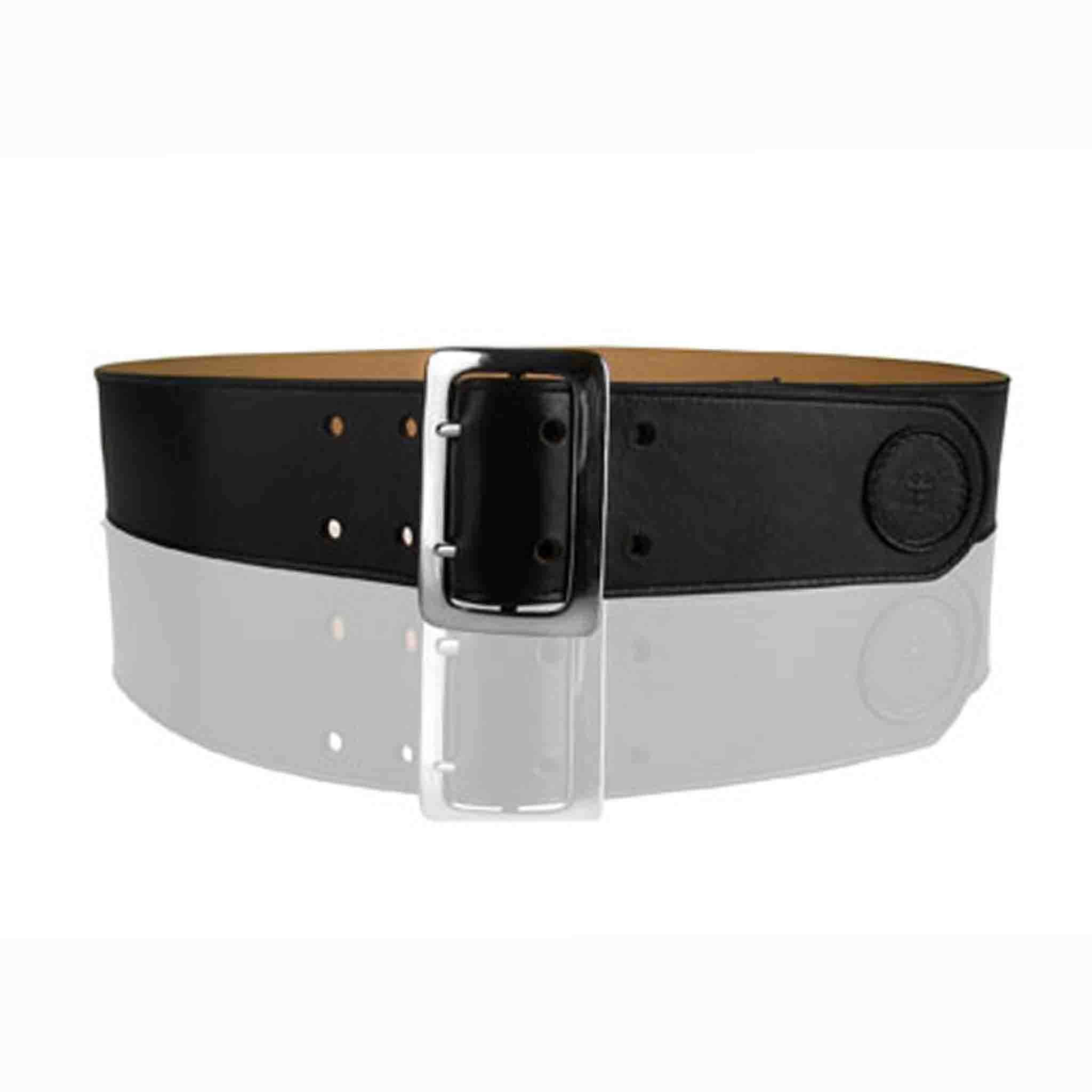 BLACK LEATHER BELT MEN'S BULLE