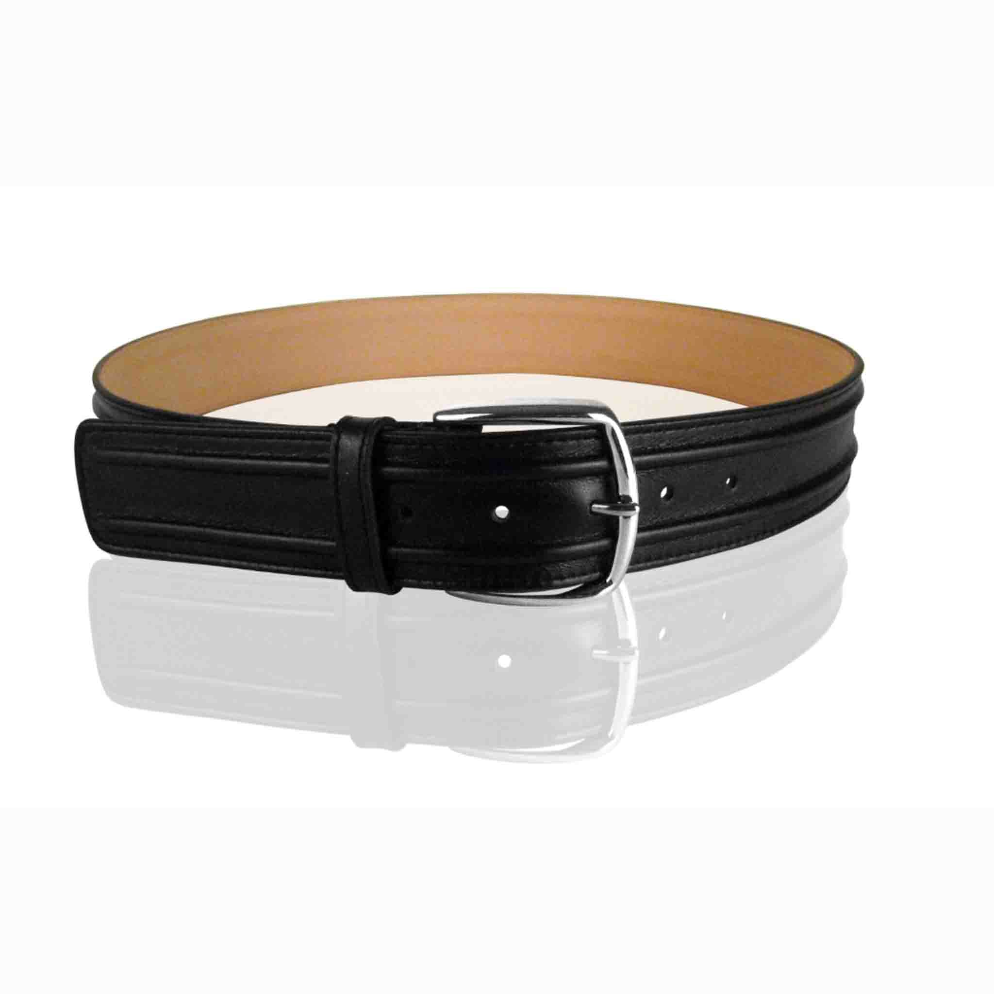 BLACK LEATHER BELT MEN'S ROHR