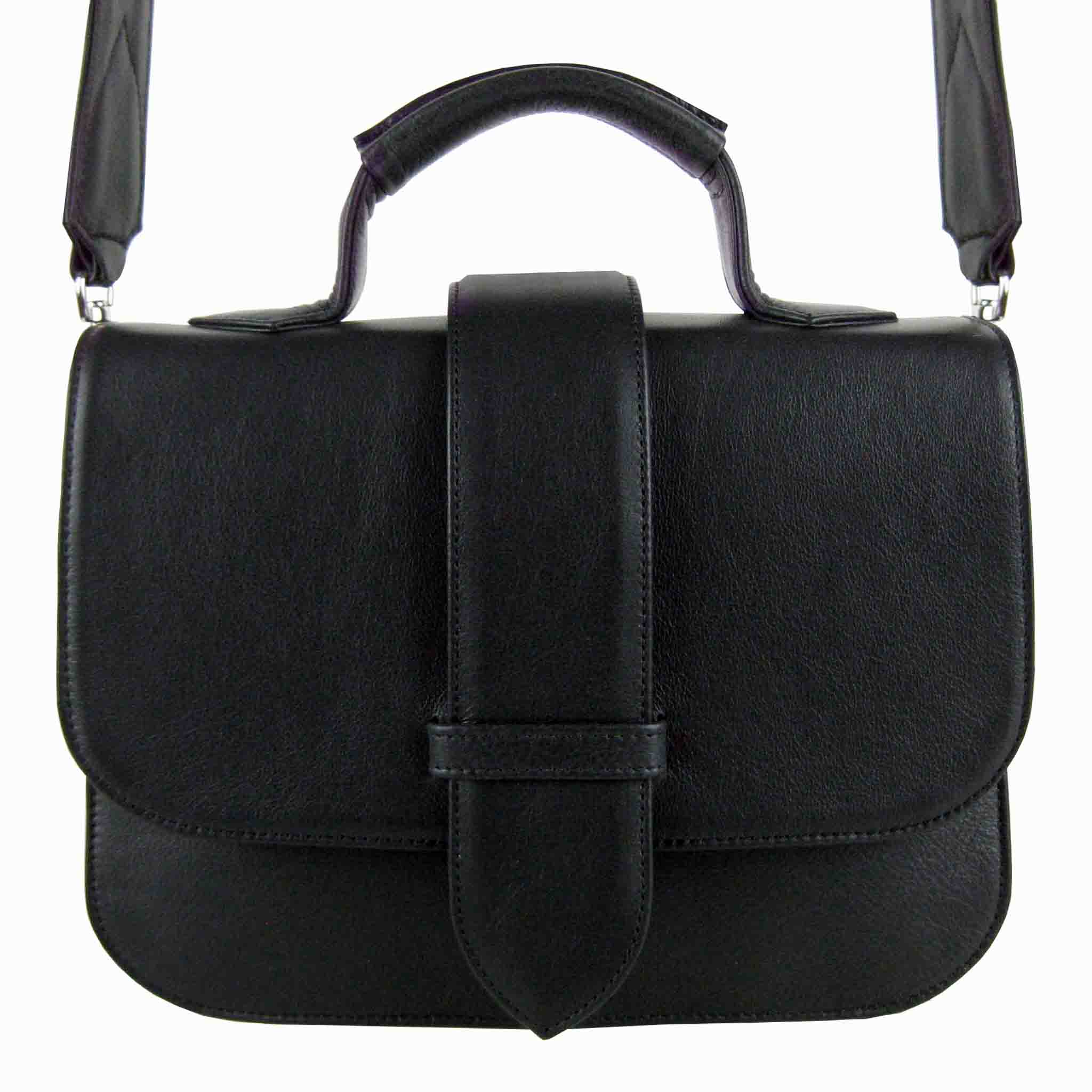 WOMEN'S SINGLE FLAP LEATHER CROSSBODY SCHULRANZEN BAG
