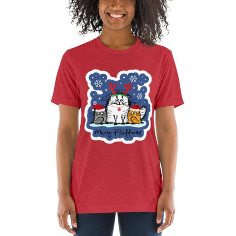 Image of Merry Fluffmas Short sleeve t-shirt