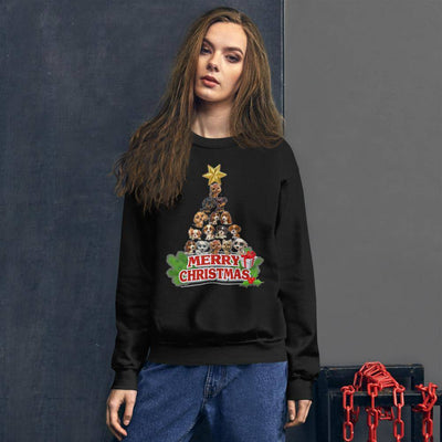 Puppies Christmas Tree Sweatshirt