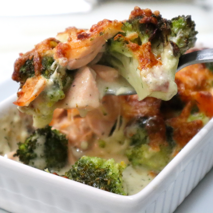Salmon & Broccoli Bake