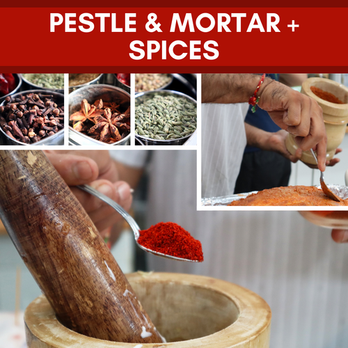 Spice Medley: Pestle & Mortar + Spice Selection