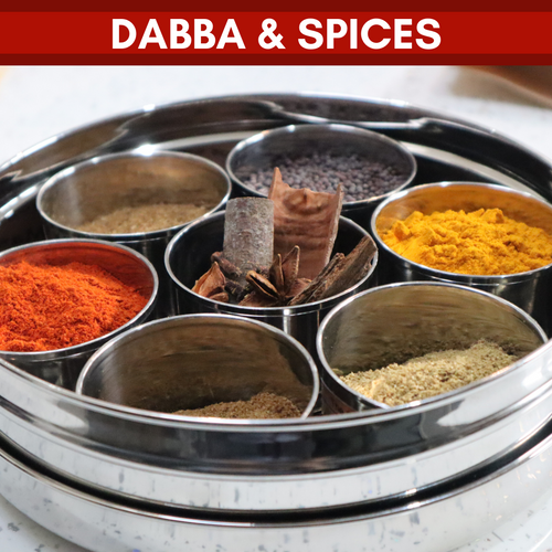 Dabba with 50g Ground Spice Selection