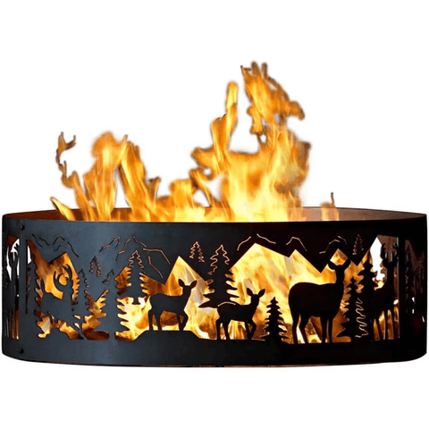 """Large Steel Fire Pit Liner Ring Insert 36"""""""