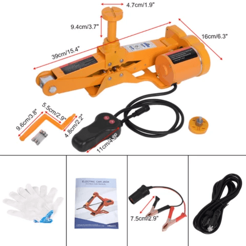 Portable Low Profile Electric Floor Car Jack 12V