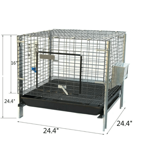 Large Indoor Wire Rabbit Home Cage 24.4""