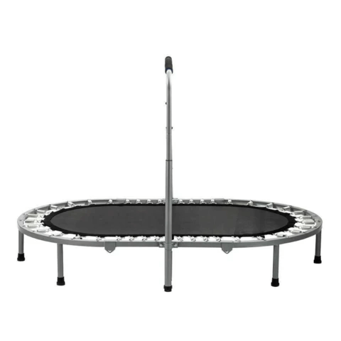 """Small Foldable Fitness Workout Exercise Trampoline With Handlebar 56"""""""