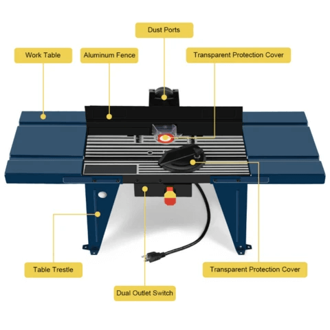 Portable Table Top Wood Router Table