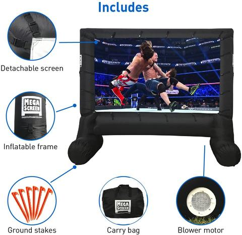 Inflatable Outdoor Blow Up Movie Projector Screen 14 FT