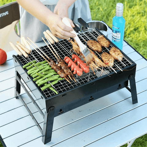 Portable Small Tabletop Charcoal Grill