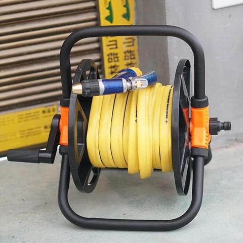 Retractable Garden Water Hose Holder Reel