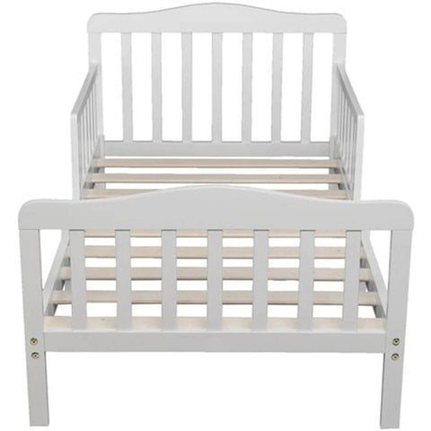 Wooden Baby Toddler Bed with Safety Guardrails