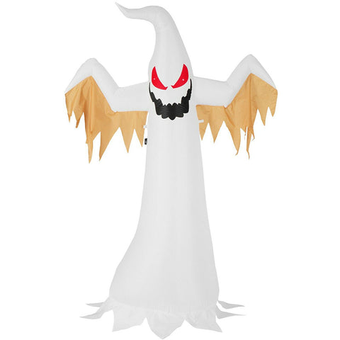8ft Halloween Inflatable Blow up White Ghost