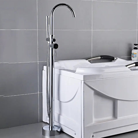 Freestanding Floor Mounted Bathtub Filler Faucet