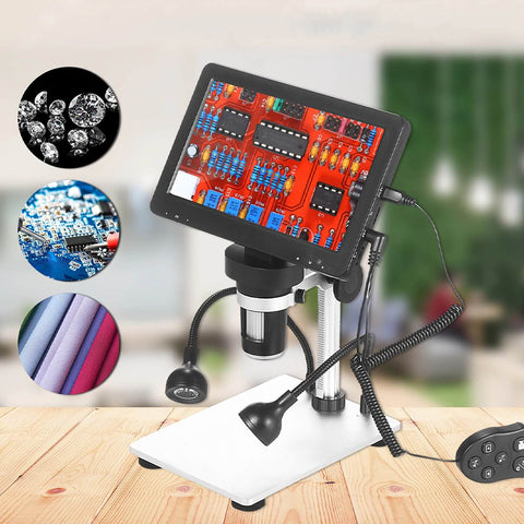 Rechargeable Microscope with Remote Control Digital Magnifier