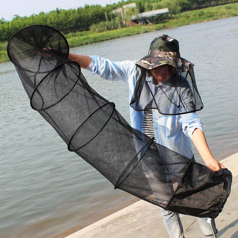Strong 5-Layer Automatic Fishing Cast Net Cage