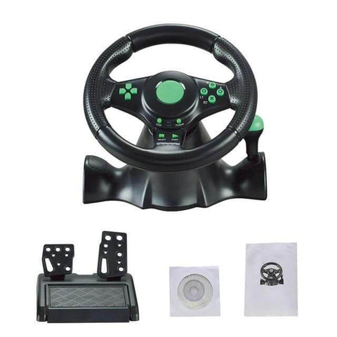 Racing Cockpit Steering Wheel Set
