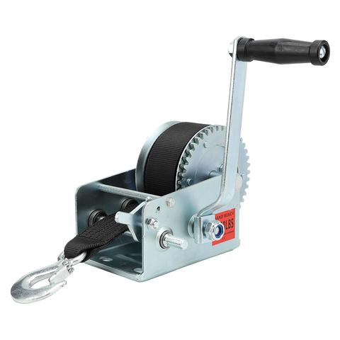 Heavy Duty Car Boat Trailer Mounted Manual Hand Winch 2500 lbs