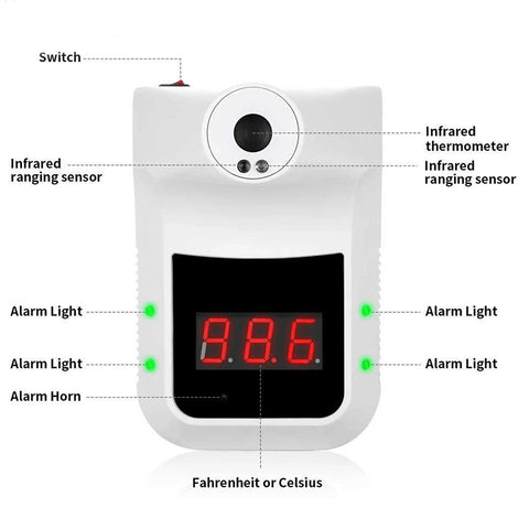 Wall Mounted Handsfree Infrared Thermometer