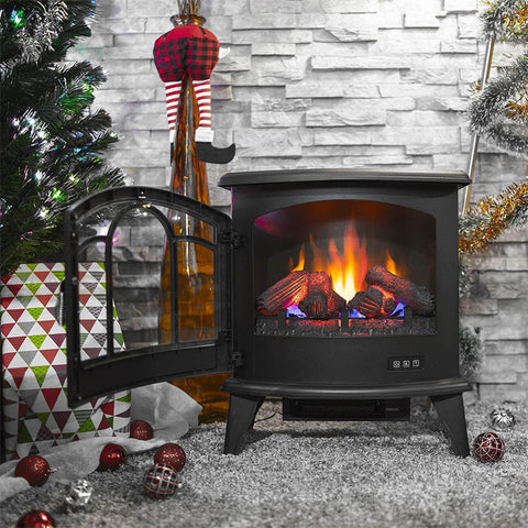 Portable Electric Fireplace Space Heater 1400W