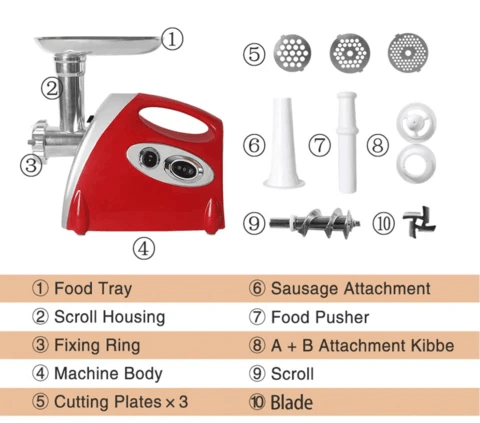 Premium Electric Meat and Sausage Grinder