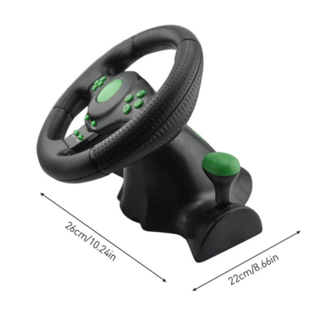 Racing Simulator Cockpit Steering Wheel Set