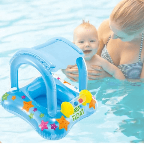Toddler Swimming Pool Float With Canopy