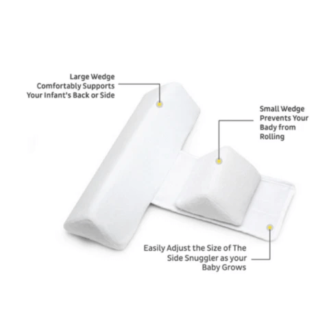 Baby Anti Roll Side Sleeper Positioner Wedge Pillow
