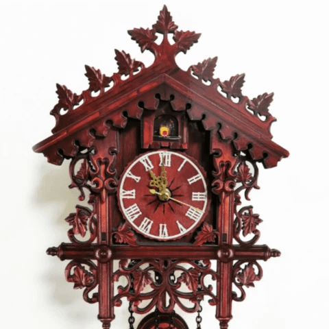 Antique Battery Operated Cuckoo Wall Clock