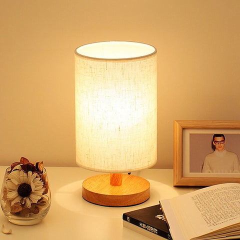 LED Nordic Linen Dimming Table Lamp