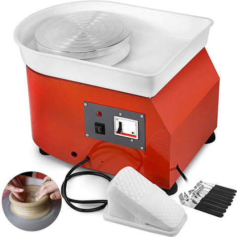 350W Ceramic Pottery Wheel With Sculpting Set