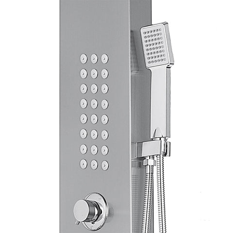 Rainfall Shower Panel with Body Massage Jets