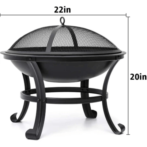 Small Portable Tabletop Fire Pit Bowl 22""
