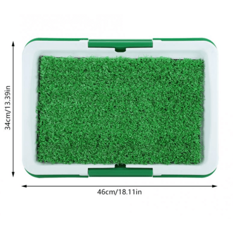 Portable Indoor Dog Porch Potty Grass Pee Pad