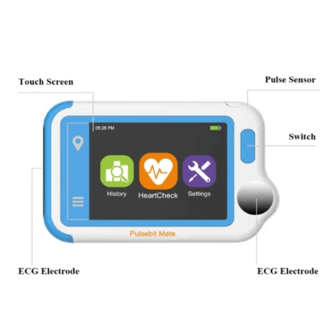 Portable Handheld Chest Heartbeat Home Monitor