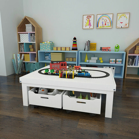 Kids Activity Table Play Center with Toy Storage